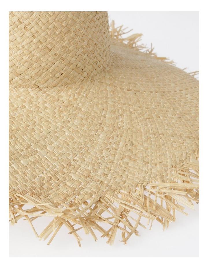 AJS2090 Wide Brim Freyed Edge Summer Hats image 4