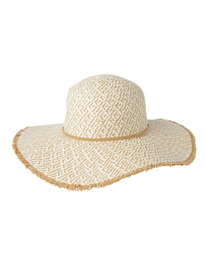 Two Tone Pattern Weave with Frayed Edge Summer Hats image 1