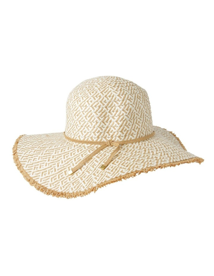 Two Tone Pattern Weave with Frayed Edge Summer Hats image 3