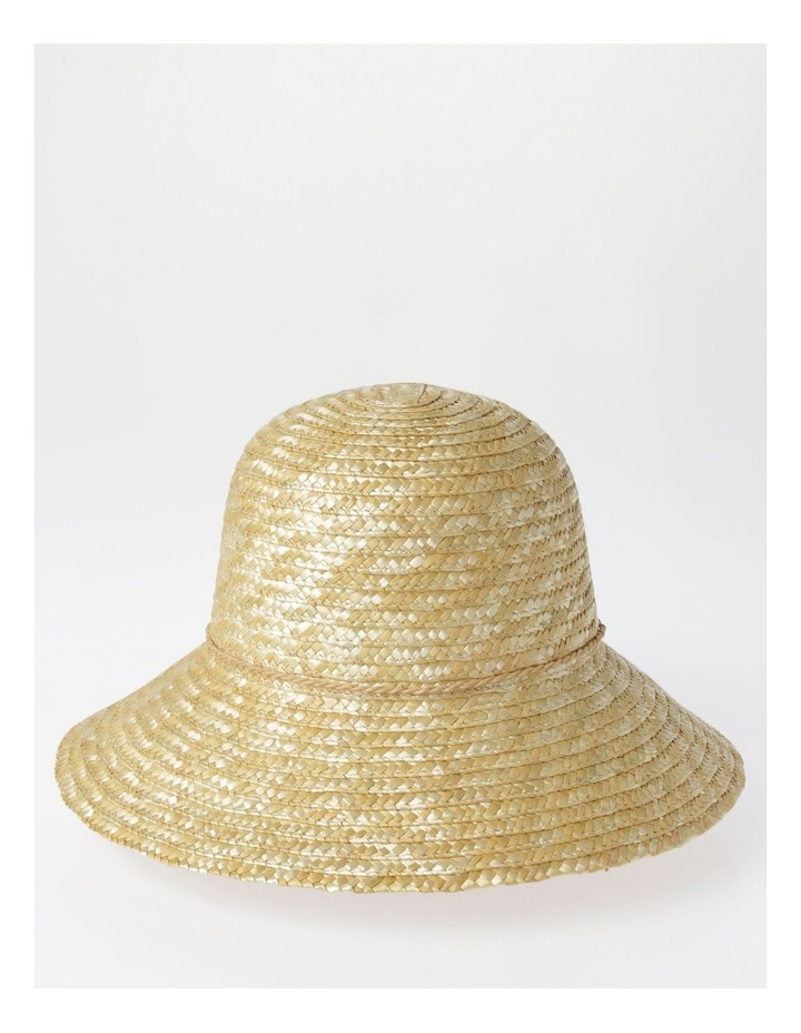Straw Summer Hat with Tassel Trim image 1