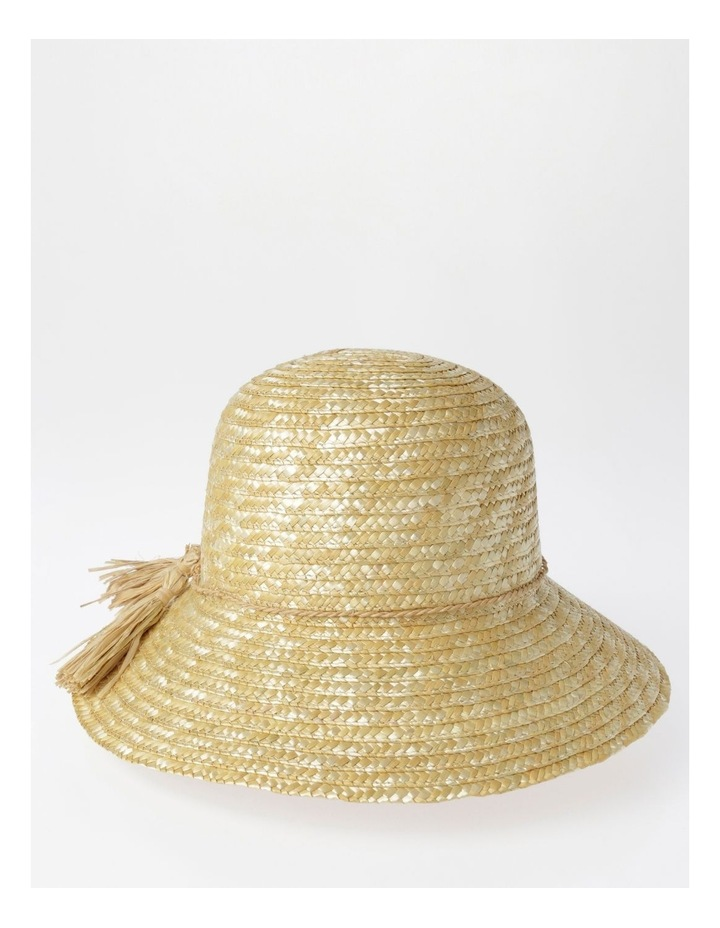 Straw Summer Hat with Tassel Trim image 2