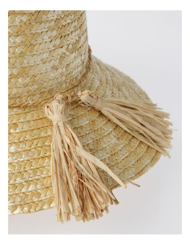 Straw Summer Hat with Tassel Trim image 4