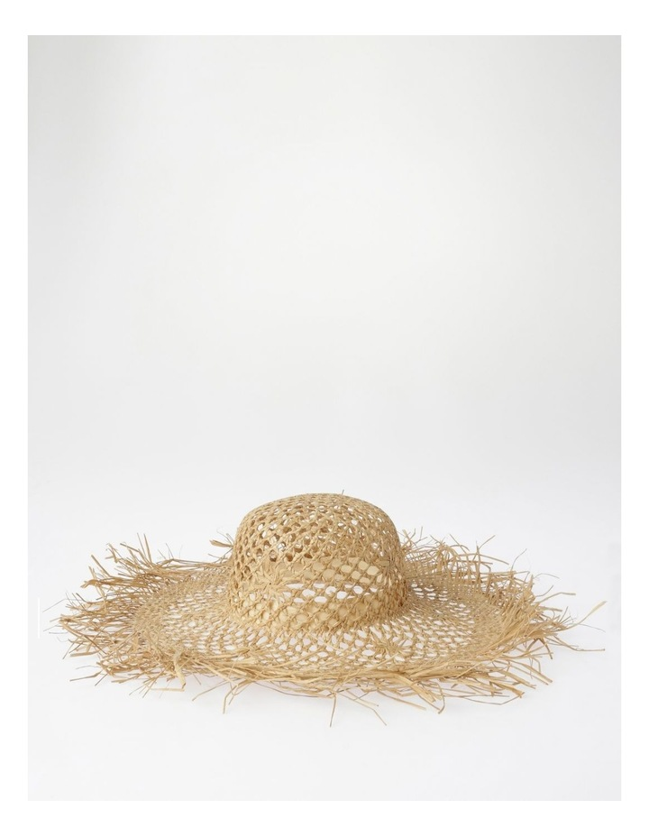 Open Weave Summer Hat with Fringe Edge image 2