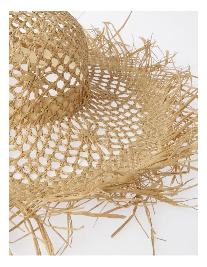 Open Weave Summer Hat with Fringe Edge image 3