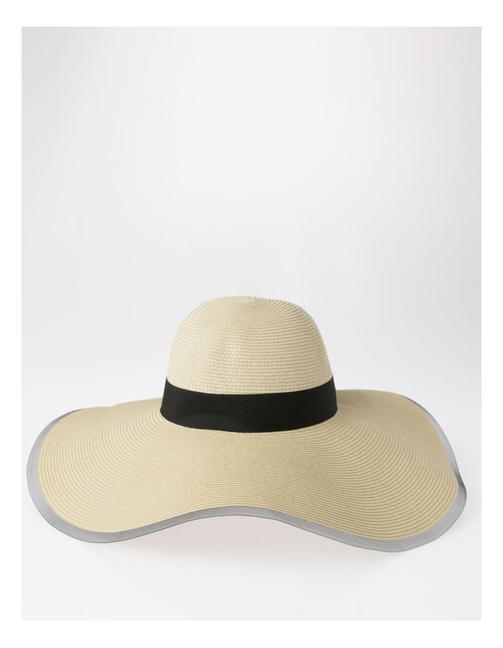 AJS0272 Contrast Tie And Bind Summer Hats image 1