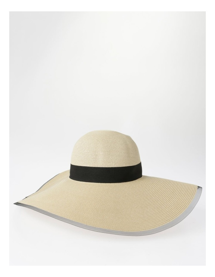 AJS0272 Contrast Tie And Bind Summer Hats image 2