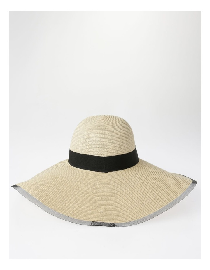 AJS0272 Contrast Tie And Bind Summer Hats image 3