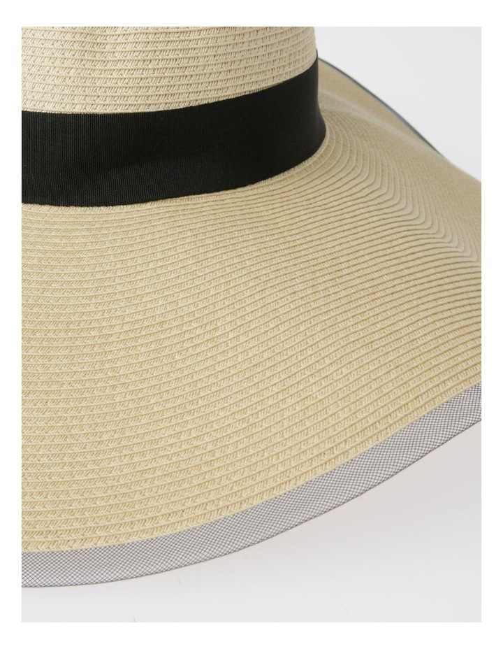 AJS0272 Contrast Tie And Bind Summer Hats image 4