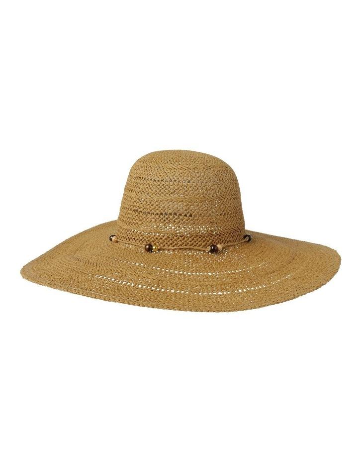 Beaded Trim Floppy Hat Summer Hats image 1