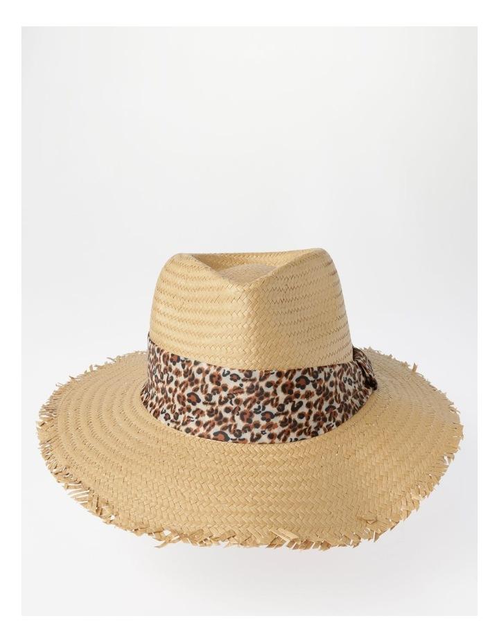 Animal Trim Fedora With Frayed Edge Summer Hats image 1