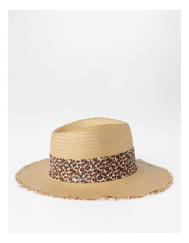 Animal Trim Fedora With Frayed Edge Summer Hats image 2
