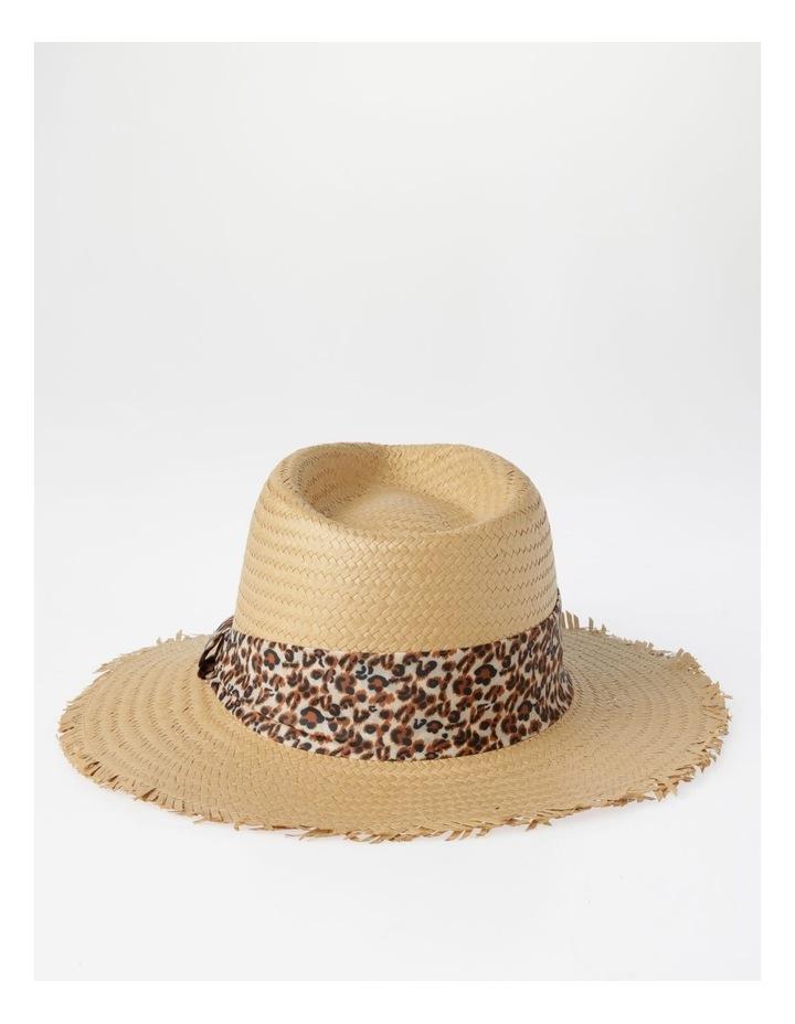 Animal Trim Fedora With Frayed Edge Summer Hats image 3