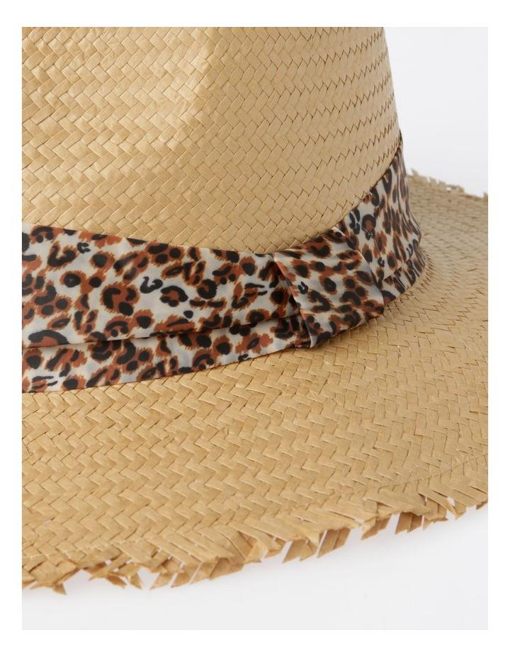 Animal Trim Fedora With Frayed Edge Summer Hats image 4