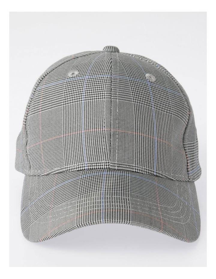 DL24052 Grey Check Baseball Cap Summer Hats image 1