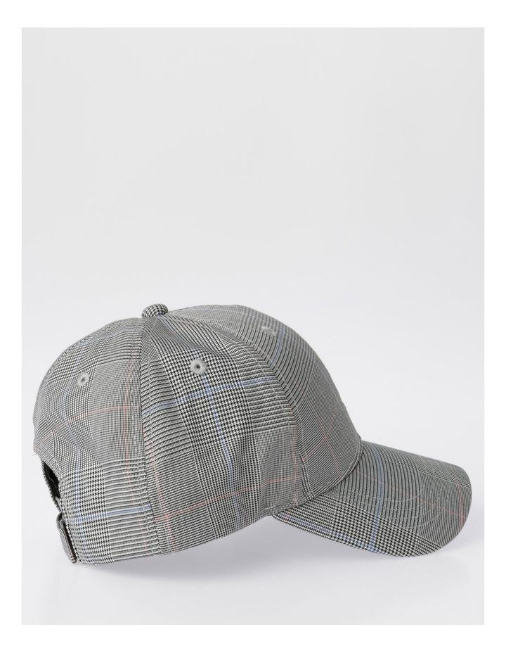 DL24052 Grey Check Baseball Cap Summer Hats image 2