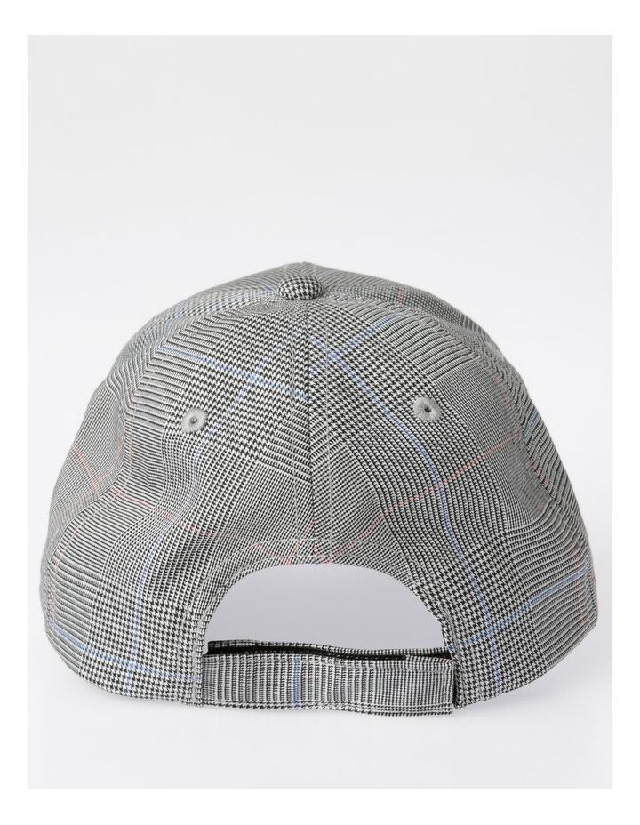 DL24052 Grey Check Baseball Cap Summer Hats image 3