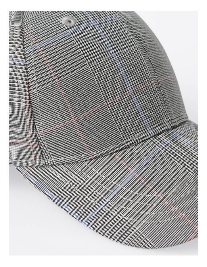DL24052 Grey Check Baseball Cap Summer Hats image 4