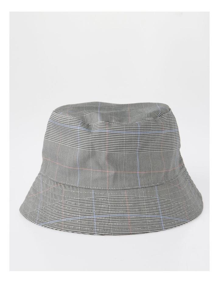 DL25856 Grey Check Bucket Summer Hats image 1