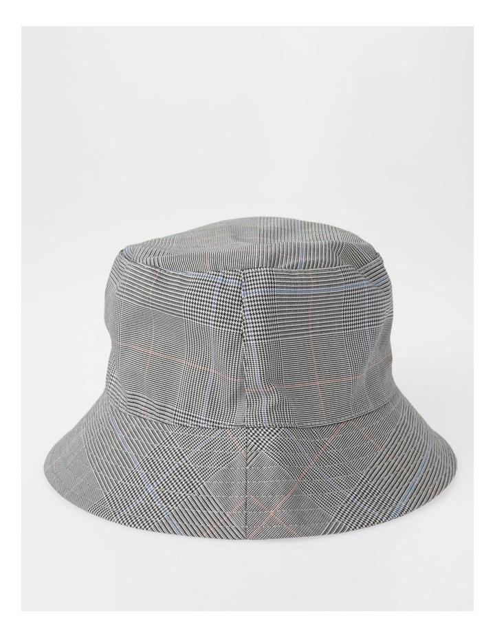 DL25856 Grey Check Bucket Summer Hats image 2