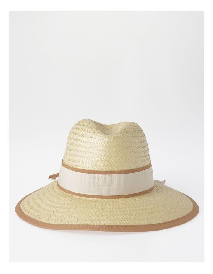 Two Tone Trim Fedora Summer Hats image 1