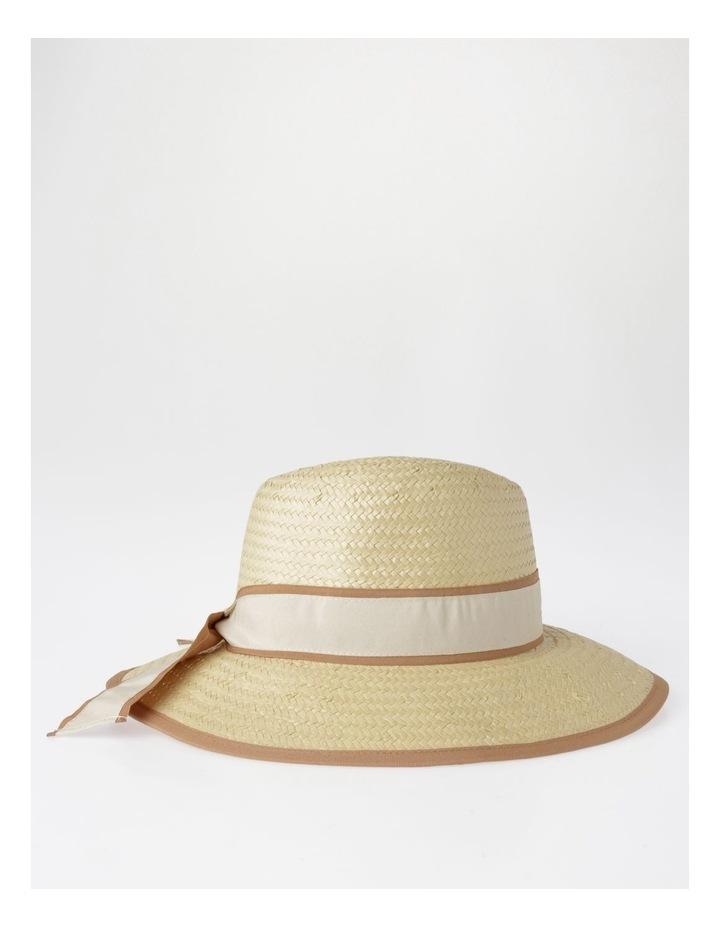 Two Tone Trim Fedora Summer Hats image 2