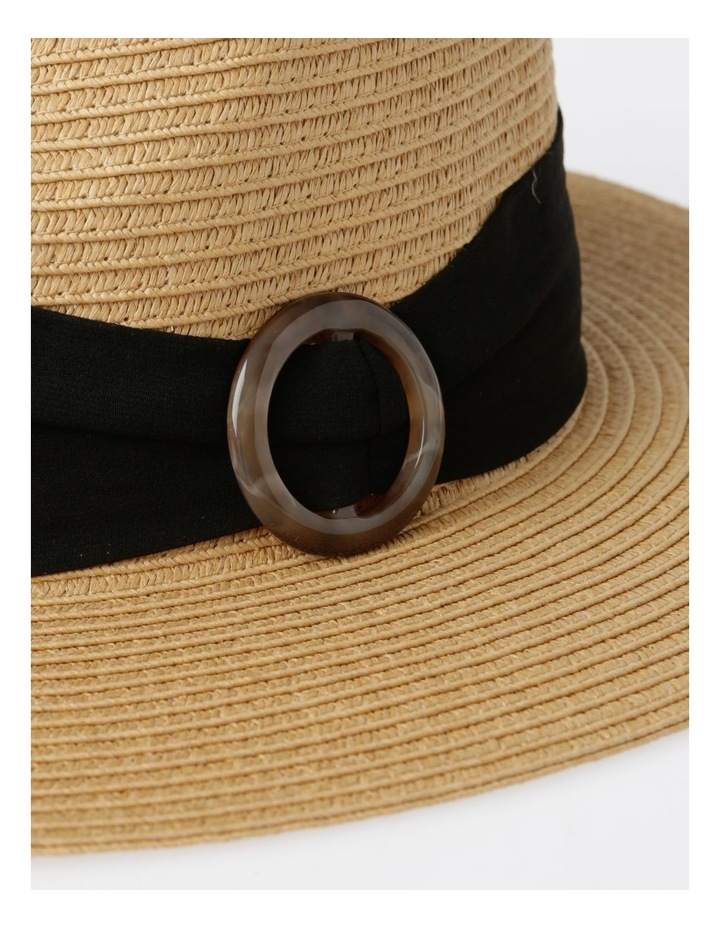 Tortoise Feature Natural Fedora Summer Hats image 4