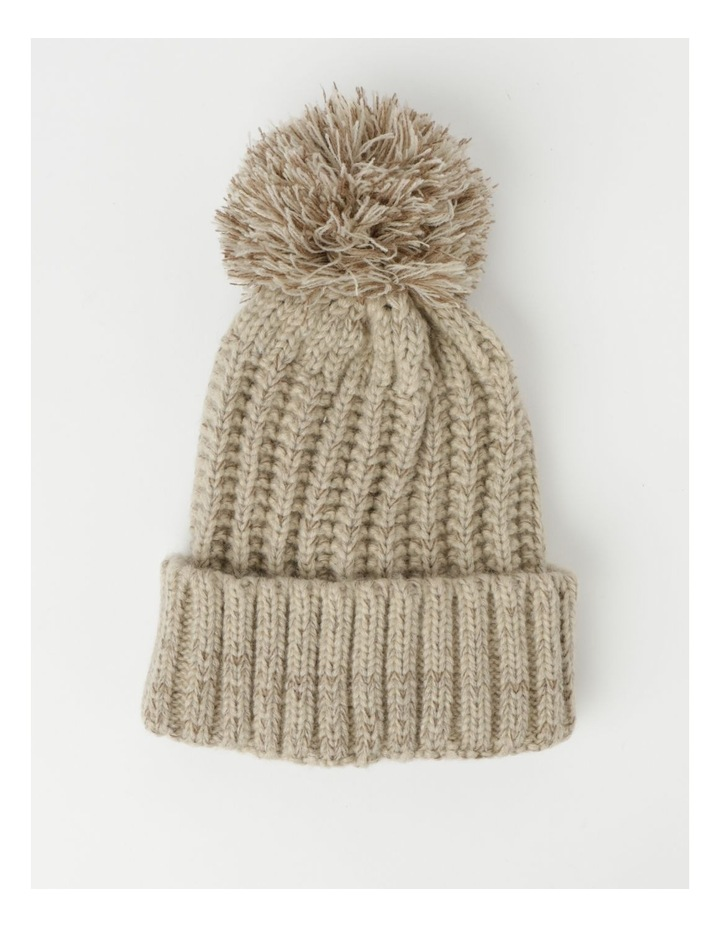 Chunky Knit Beanie With Pom Winter Hats image 1