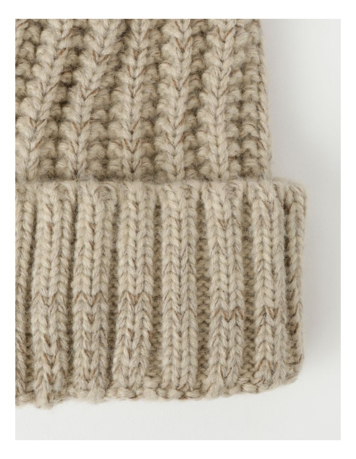 Chunky Knit Beanie With Pom Winter Hats image 2