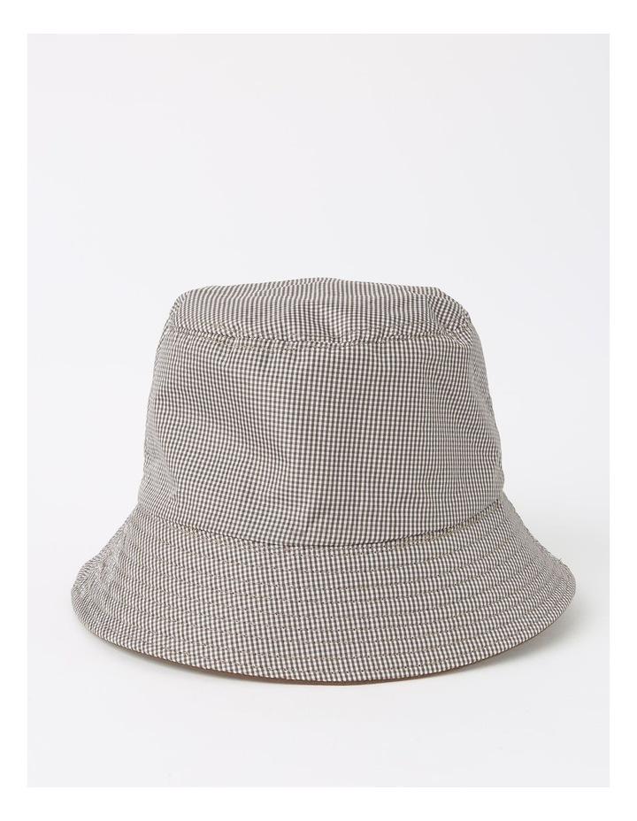 Reversible Chocolate/ Checkered Bucket Hat image 1