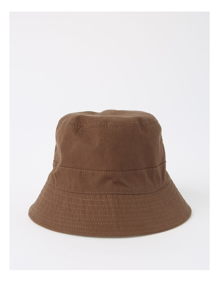 Reversible Chocolate/ Checkered Bucket Hat image 2