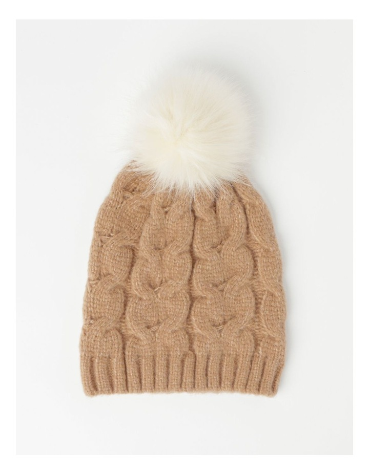 PIPR002 Pom Pom Cable Beanie Winter Hats image 1