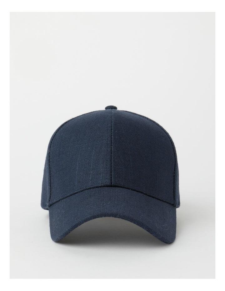 Cotton Blend Navy Cap image 1