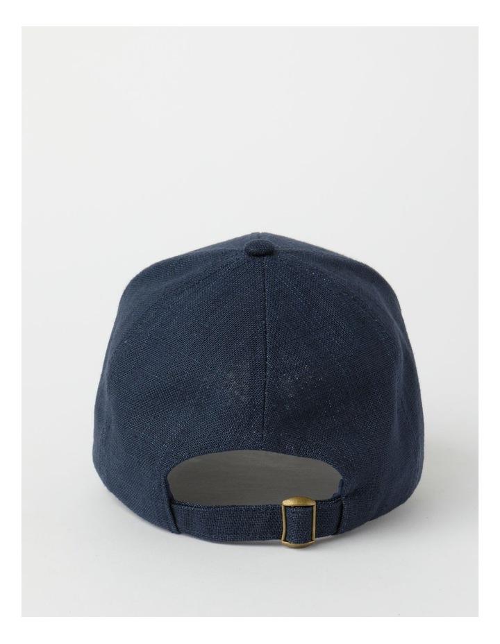 Cotton Blend Navy Cap image 3