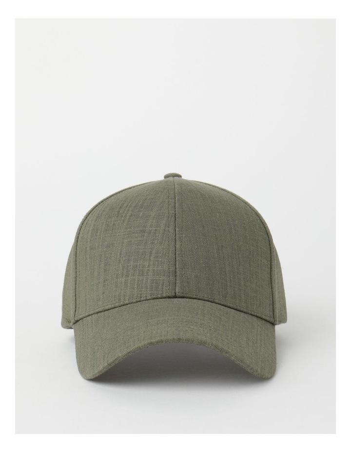 Linen Blend Khaki Cap image 1