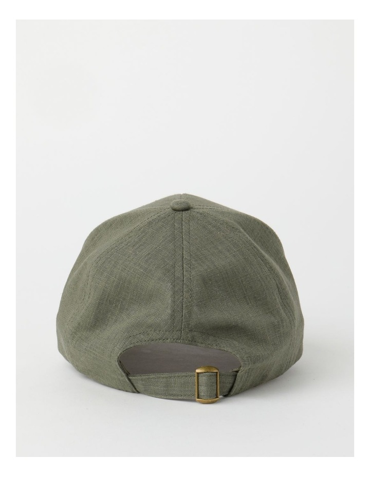 Linen Blend Khaki Cap image 3