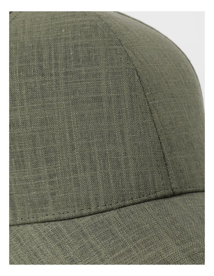 Linen Blend Khaki Cap image 4