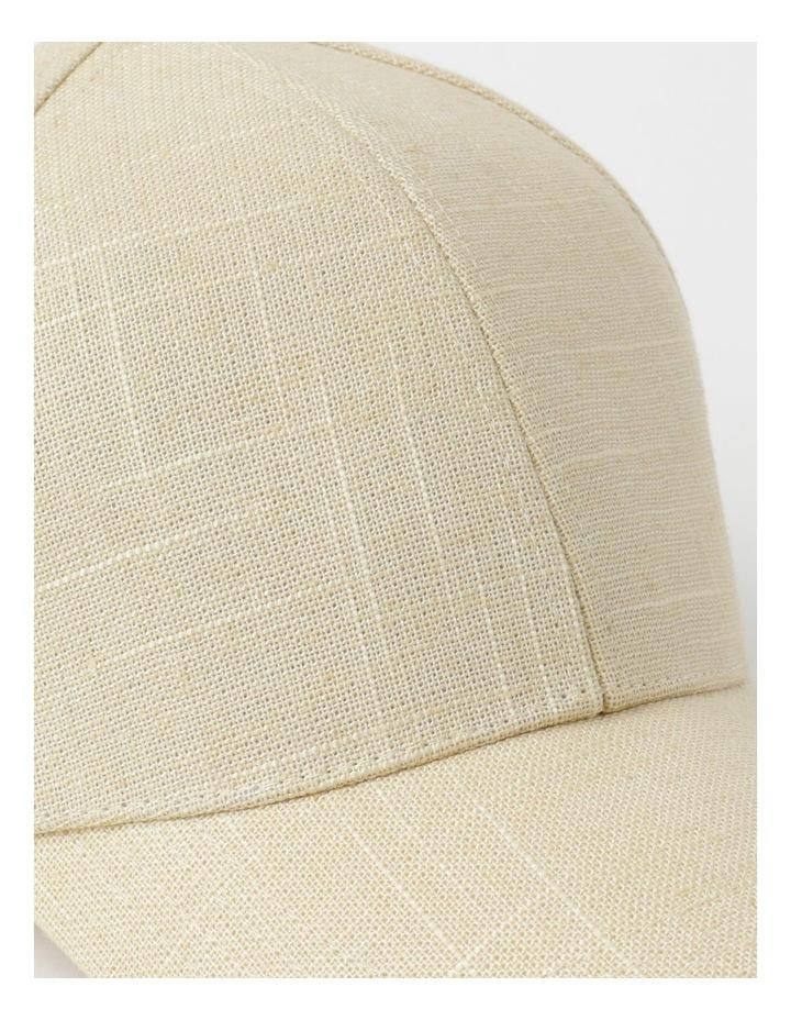 Linen Blend Natural Cap image 4