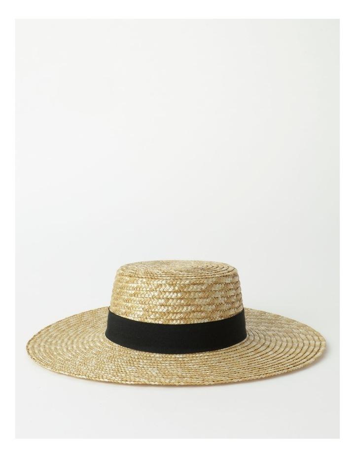 Contrast Trim Boater Hat image 1