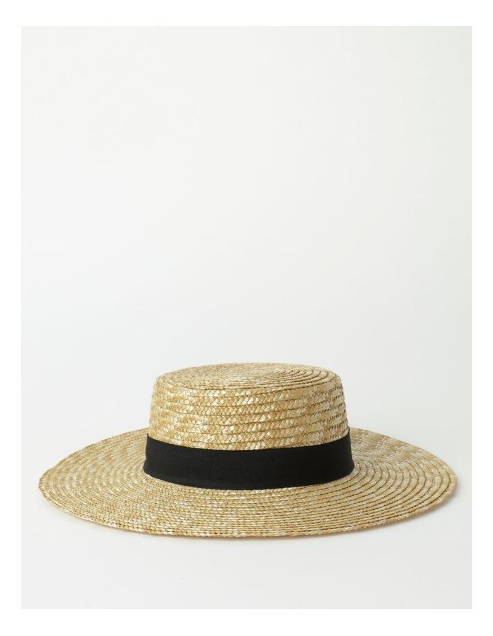 Contrast Trim Boater Hat image 2
