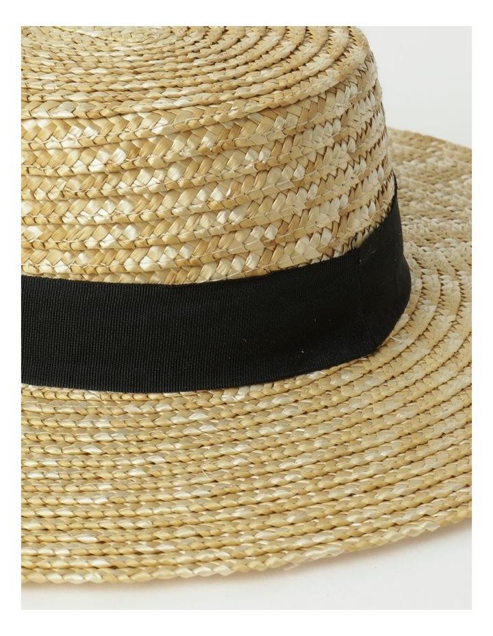 Contrast Trim Boater Hat image 3