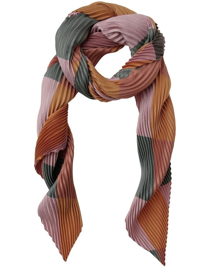 X427 Pleated Geo Scarf image 1