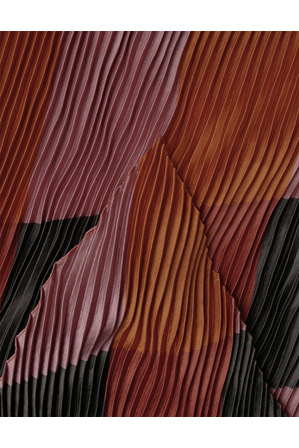 Innovare Made in Italy - X427 Pleated Geo Scarf