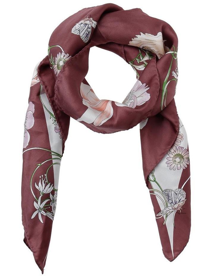 P3975 1867 Floral Silk Scarf image 1