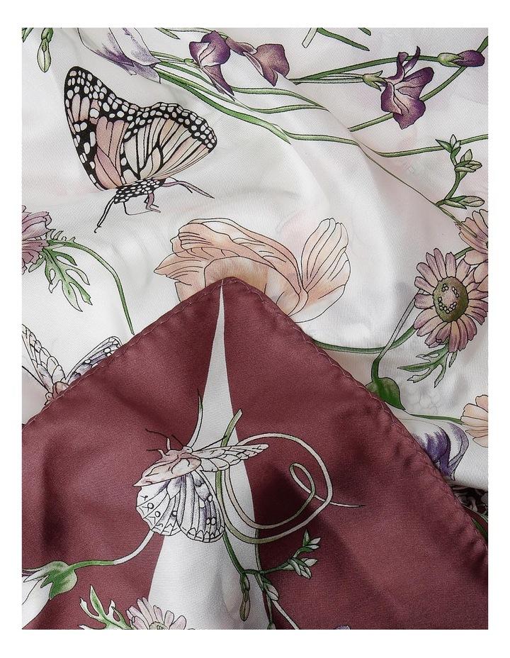 P3975 1867 Floral Silk Scarf image 2