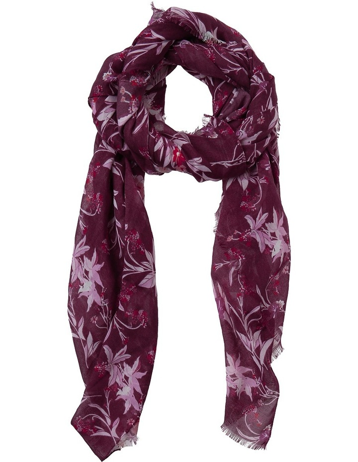 Floral And Leaf Print Scarf PIPS0277 image 1