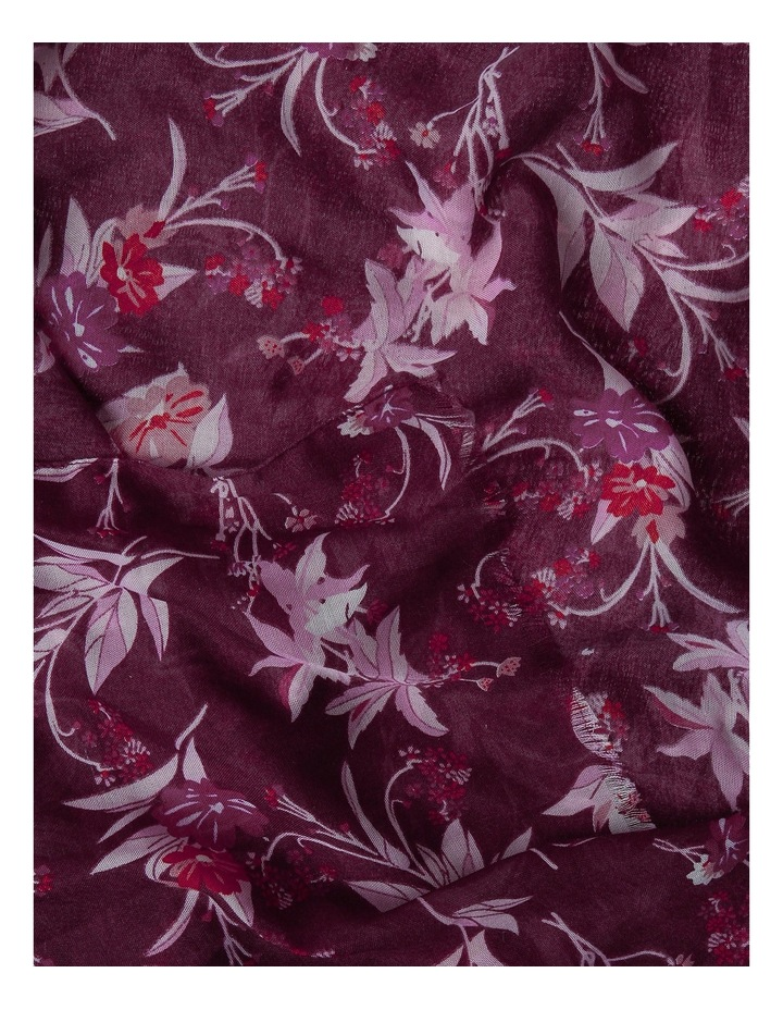 Floral And Leaf Print Scarf PIPS0277 image 2