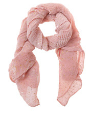 Piper - Pleated Foil Print Scarf PIPS0288