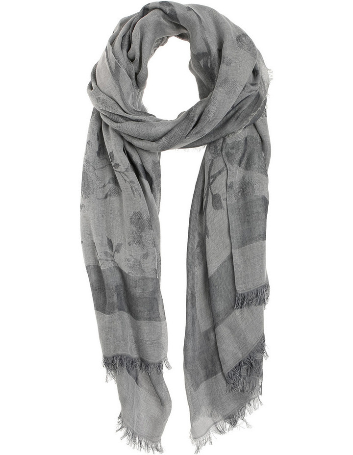 Embossed Floral Scarf image 1