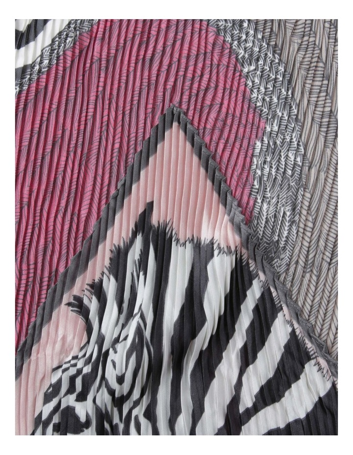 Zebra Pleat Neckerchief Scarf image 2