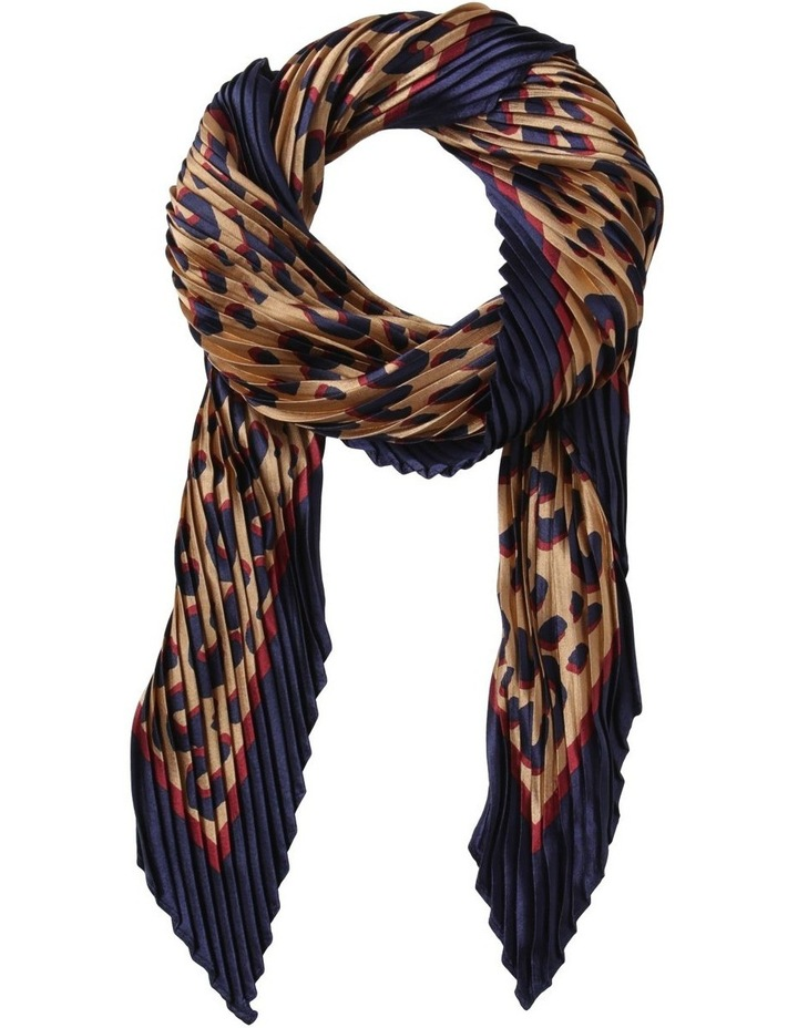 Pleated Leopard Scarf image 1